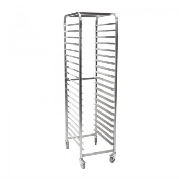Gastro-M 18 Rack Stainless Steel Racking Trolley 1/1 GN
