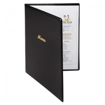 Olympia PVC Menu Cover Black A4