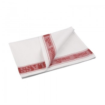 Vogue Glass Cloth Red