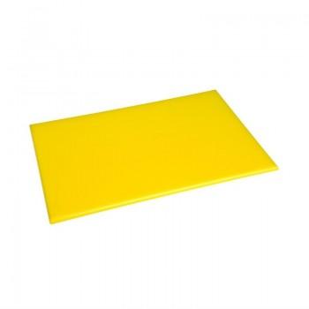 Hygiplas Anti Microbial High Density Yellow Chopping Board