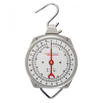 Weighstation Stainless Steel Hanging Kitchen Scale 25kg