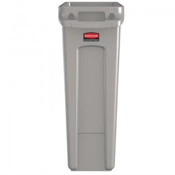 Rubbermaid Slim Jim Container With Venting Channels Grey 60Ltr