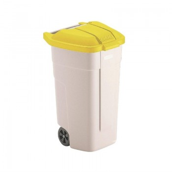 Rubbermaid Mobile Container 100Ltr Yellow Lid