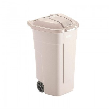 Rubbermaid Mobile Container 100Ltr Beige Lid