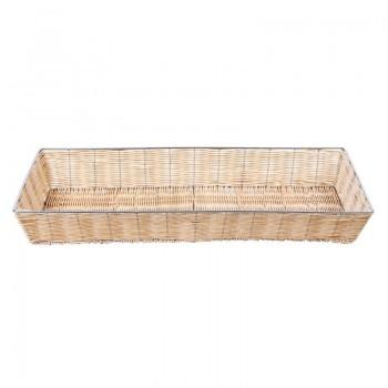 Wicker Metal Frame Basket