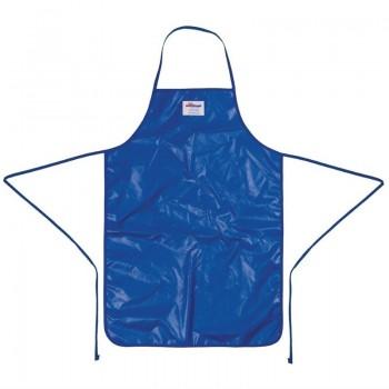 Burnguard Nylon QuicKlean Bib Apron Blue