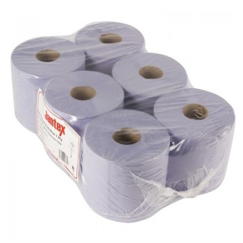 Jantex Blue Centrefeed Rolls 1ply 6 Pack