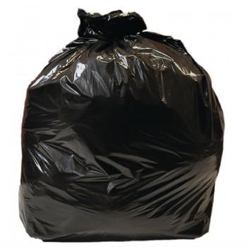 Jantex Large Medium Duty Black Bin Bags 90Ltr
