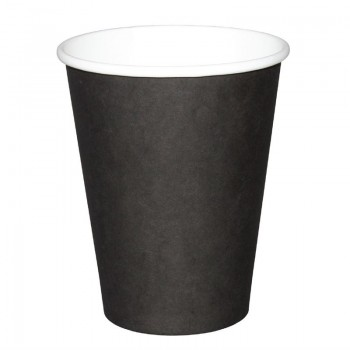 Fiesta Single Wall Takeaway Coffee Cups Black 225ml / 8oz x 1000
