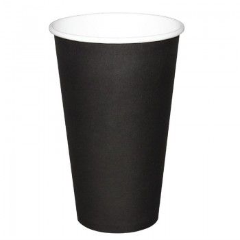 Fiesta Single Wall Takeaway Coffee Cups Black 455ml / 16oz x 50