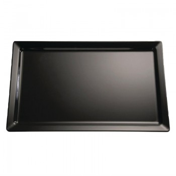 APS Pure Melamine Tray Black GN 1/2