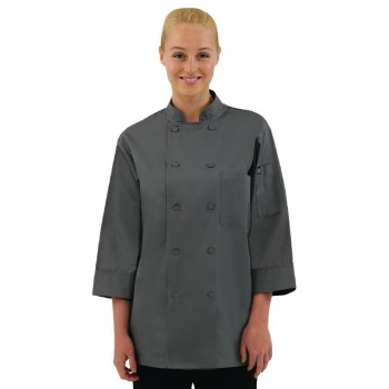 Chef Works Unisex Chefs Jacket Grey L