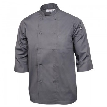 Chef Works Unisex Chefs Jacket Grey XS