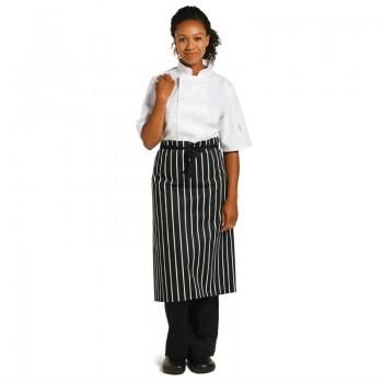 Whites Butchers  Waist Apron Black and White Stripe