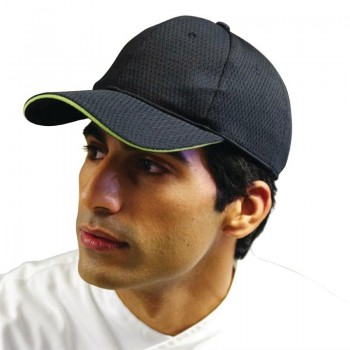 Chef Works Cool Vent Baseball Cap Black with Lime