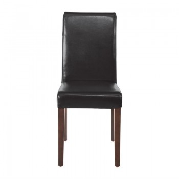 Bolero Faux Leather Dining Chairs Black (Pack of 2)