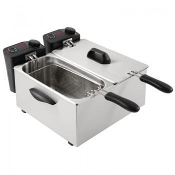 Caterlite Light Duty Twin Tank Twin Basket Countertop Electric Fryer 2x2kW
