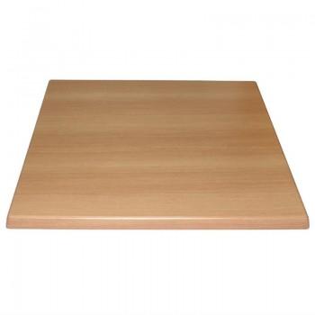 Bolero Pre-drilled Square Table Top Beech Effect 700mm