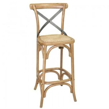 Bolero Wooden Barstool with Backrest