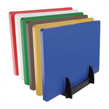 Hygiplas Black Plastic Chopping Board Rack Large