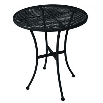 Bolero Black Steel Patterned Round Bistro Table Black 600mm