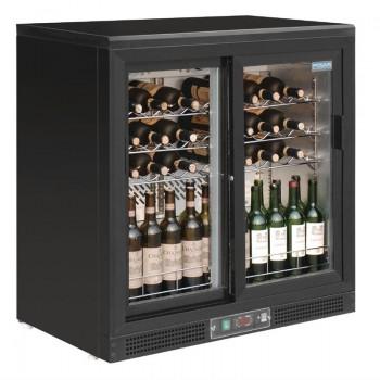 Polar Horizontal Wine Cooler Sliding Doors