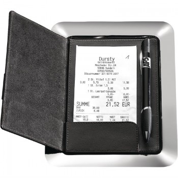 APS Stainless Steel and Leather Bill Presenter