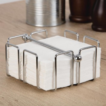 Olympia Cocktail Napkin Holder with Weight 140 x 140mm
