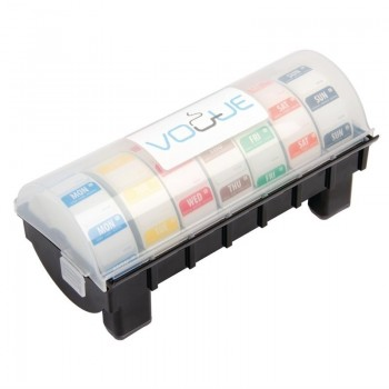 Removable Colour Coded Food Labels with 1'' Dispenser