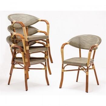 Bolero Faux Wicker Outdoor Armchairs (Pack of 4)