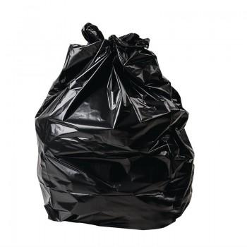 Jantex Large Medium Duty Black Bin Bags 70Ltr