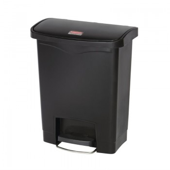 Rubbermaid Slim Jim Step on Front Pedal Black 30Ltr