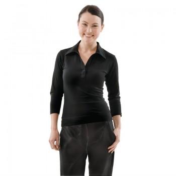 Chef Works Womens V-Neck T-Shirt Black S
