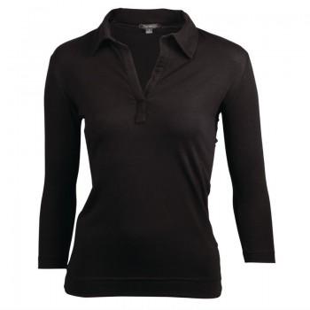 Chef Works Womens V-Neck T-Shirt Black XL