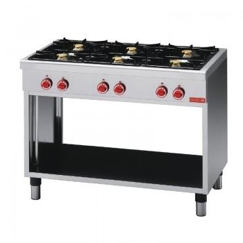 Gas cooking table 6 burners, CEG 110