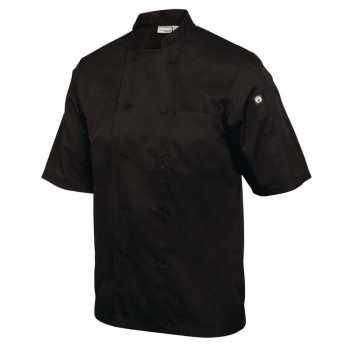 Chef Works Montreal Cool Vent Unisex Chefs Jacket Black 2XL
