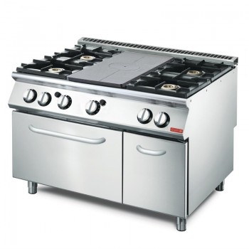 Gas Solid Top range, with 4 burners and gasoven GM70/120 TPFCFGB