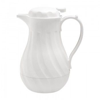 Olympia Insulated Swirl Jug White 2Ltr