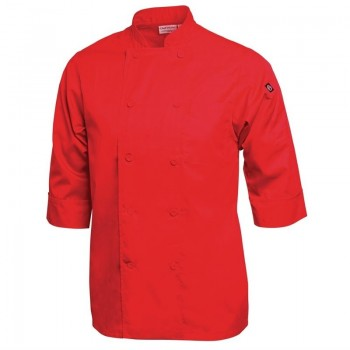 Chef Works Unisex Chefs Jacket Red S
