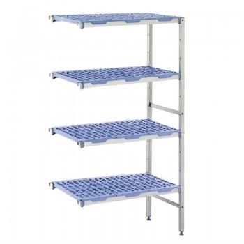 Tournus angle racking 4 shelves 400(d)x649(w)mm
