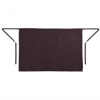 Regular Bistro Apron Black With Pocket