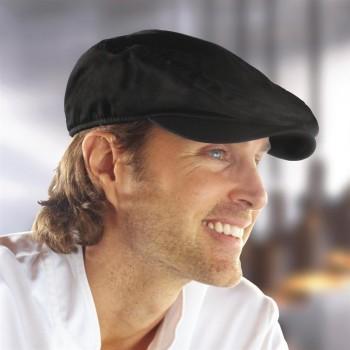 Chef Works Flat Cap Black L