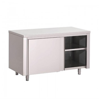 Gastro-M S/S working table with sliding doors