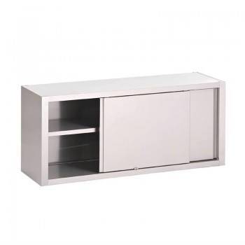Gastro-M S/S wall cupboard with sliding doors 1600x400x850mm