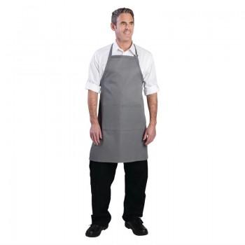 Chef Works Bib Apron Grey