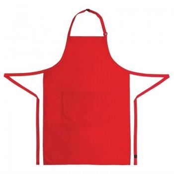 Chef Works Bib Apron Red