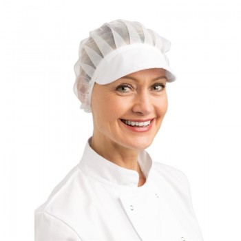 Whites Net Peaked Hat White