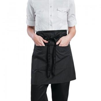 Chef Works Wide Half Waist Apron Pinstripe