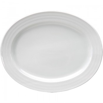 Intenzzo White oval platter 30 x 24 cm