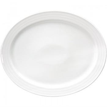 Intenzzo White oval platter 34 x 28 cm